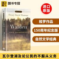 瓦尔登湖 英文原版 Walden and Civil Disobedience 及论公民的不服从义务 经典名著 梭罗作品