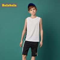 【618大促-每满100减50】巴拉巴拉童装男童套装中大童儿童两件套夏装2018新款运动背心 裤子