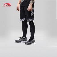李宁篮球比赛裤男士2018新款篮球系列修身短裤短装运动裤AAPN009