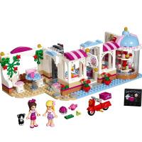 好朋友系列心湖城树屋纸杯蛋糕咖啡厅街景房子女孩拼装积木玩具