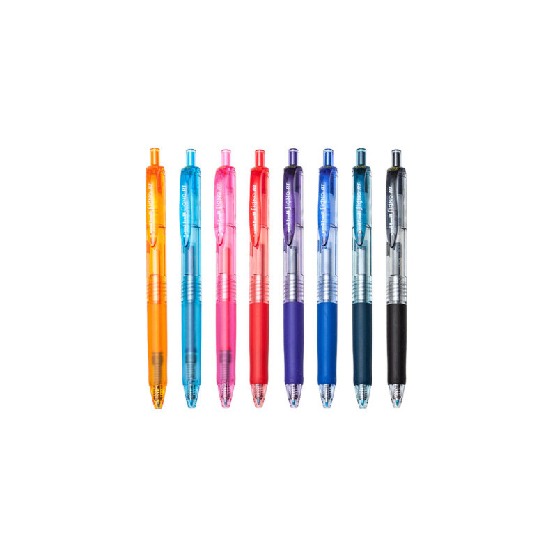 三菱UNI 按动中性笔 彩色签字笔0.38mm学生书写中性水笔 日本水笔