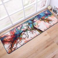 创意彩虹天空树进门地垫门垫厨房卧室长条地毯防滑脚垫可机洗