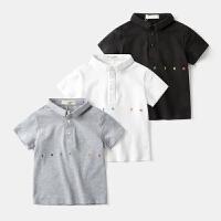 男童短袖polo衫夏装半袖T恤宝宝儿童夏季童装1岁3小童4潮