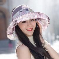 帽子女遮阳帽户外防晒洋气时尚空顶可折叠太阳帽遮脸女士凉帽