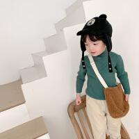 男童毛衣套头秋冬款韩版儿童半高领针织衫宝宝童装
