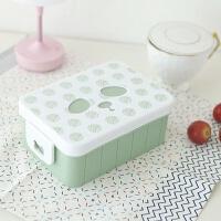 简约创意便当盒可爱学生带盖长方形韩国食堂分隔餐盒