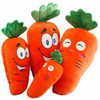 柔软软体创意表情胡萝卜蔬菜抱枕公仔毛绒玩具玩偶布娃娃大号女生