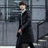 冬装新品男连帽中长款男士棉衣学生外套