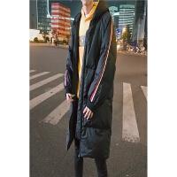 冬季韩版羽绒服男士中长款连帽加绒加厚宽松青少年冬天男装外套潮