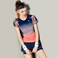 羽毛球服套装男女比赛团队打折修身运动短袖yy上衣透气短裤裙