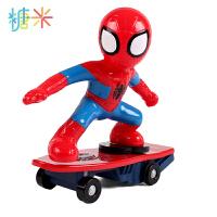 儿童充电动遥控特技滑板车男孩玩具蜘蛛侠汽车