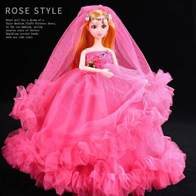 娃娃套装大礼盒婚纱仿真巴比洋娃娃女孩公主玩具生日礼物
