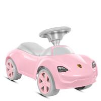 儿童滑行车四轮溜溜扭扭车音乐1-3-5岁婴儿学步助步可坐人玩具车 新保时捷粉色 防掉轮设计