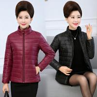 棉衣中老年女短款秋冬装新款修身小棉袄中年妈妈轻薄冬季外套