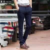 秋季男士休闲裤男商务直筒修身长裤黑色青年西裤百搭韩版潮流裤子