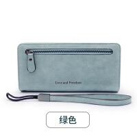 女士手拿钱包女长款韩版潮个性小清新折叠拉链多功能皮夹