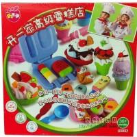 阿拿琪 3D彩泥主题玩具套装 生日蛋糕/棒棒糖/雪糕套装