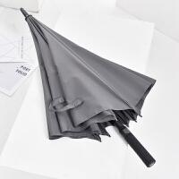 自动商务雨伞长柄男个性创意潮流简约加固大号双人伞长柄学生