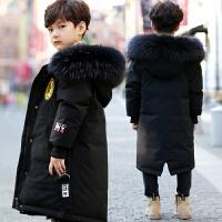 儿童羽绒服男童中长款男孩冬童装外套