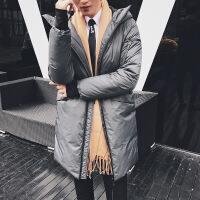 羽绒服男中长款冬季新款修身白鸭绒加厚大衣潮流冬装男士外套