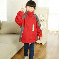儿童冲锋衣男三合一 小孩户外冬季两件套加厚 可拆卸中大童外套女