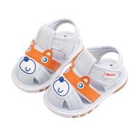 男宝宝鞋子0-1-3岁2婴儿春秋防滑软底凉鞋女不掉夏小童幼儿学步鞋
