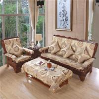 欧式加厚实木沙发垫子木制春秋椅沙发坐垫带靠背连体防滑