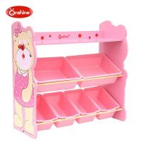 宝宝整理储物玩具架儿童收纳架儿童玩具小熊收纳柜架