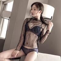 性感内衣女蕾丝刺绣复古小胸罩上薄下厚聚拢调整型文胸套装