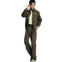 休闲套装女装军装套服休闲宽松男子套装962+8659 绿色