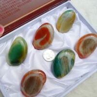 南京特产天然雨花石原石精品玛瑙石礼盒装商务礼品送友SN3356