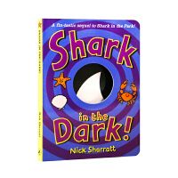 凯迪克图书 点读版 Shark in the Dark 三只小鲨鱼黑夜版 英国进口纸板书 吴敏兰推荐 毛毛虫点读笔配套书