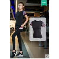 运动套装健身房专业跑步衣服短袖运动服装女休闲速干短裤新款瑜伽服三件套支持礼品卡支付
