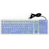 键盘折叠无声usb办公有线小键盘静音手机硅胶ipad软键盘 标配
