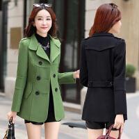 2018新款修身韩版小个子毛呢外套短款显瘦时尚潮流呢子大衣女春天