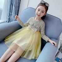 公主裙春装2020女孩裙子儿童小香风连衣裙