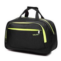 七夕礼物韩版旅行包 女 手提旅游包行李包短途大容量单肩行李袋拉杆包出差 黑色 大