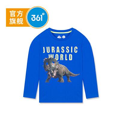 【惠】【冰点秒杀价:41】361度 童装男童长袖T恤秋季新款儿童针织衫 侏罗纪款N51832251