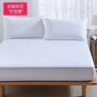 纯棉床笠单件床罩全棉床垫套席梦思保护套防尘罩1.5/1.8m床单防滑