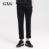 GXG男装 男士修身时尚韩版黑色休闲裤长裤#171102157