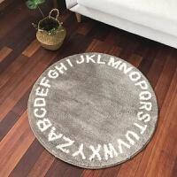 ins北欧设计英文字母客厅茶几转椅加厚圆形地垫地毯电脑椅床边毯SN1685 120cm直径 圆形