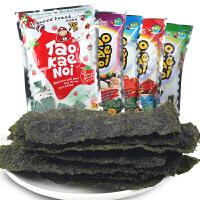 泰国进口小零食 老板仔海苔片32g*4袋 脆紫菜片即食海苔 休闲零食品小吃