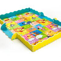 迪士尼婴儿爬行垫拼接拼图加厚宝宝爬爬垫儿童早教泡沫地垫毯2cm