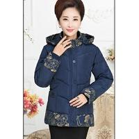 韩观中年女装冬装棉衣短款加厚妈妈装外套中老年人棉袄50-60-70岁 X