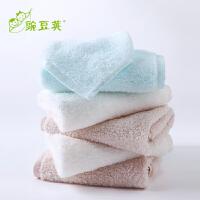 宝宝毛巾洗脸初生儿洗澡小方巾宝宝擦口水巾软