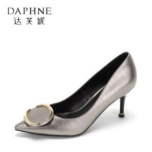 Daphne/达芙妮秋季性感尖头 细跟浅口时尚时尚高跟女单鞋