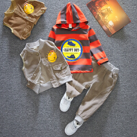 男童套装春秋款中小童卫衣宝宝帅气儿童三件套