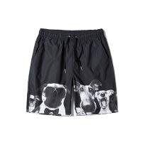 新款男士宽松黑色休闲短裤韩版潮流运动五分裤子