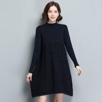 长款韩版女式羊毛毛衣女 冬季新品大码女装毛衣裙 现货毛衣女 均码
