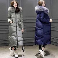 秋冬装新款大码女装秋冬季修身时尚奢华长款羽绒服9968